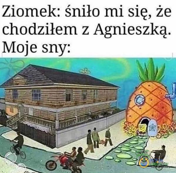 Ziomek: śniło mi się, że chodziłem z Agnieszką.