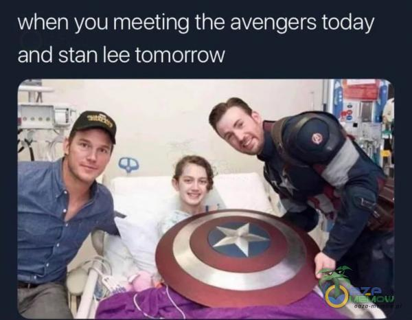 when you meeting the avengers today and stan lee tomorrow