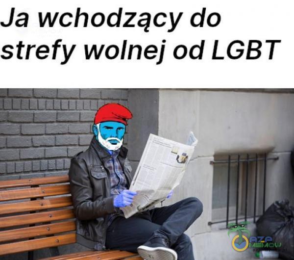 Ja wchodzący do strefy wolnej od LGBT