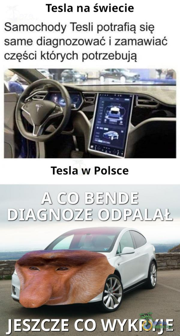 Tesla na świecie Samochody Tesli potrafią się same diagnozować i zamawiać ozęśał których potrzebują z. co WYKRYJ E