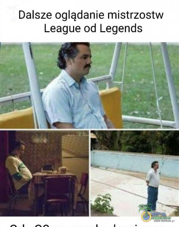 Dalsze oglądanie mistrzostw League od Legends