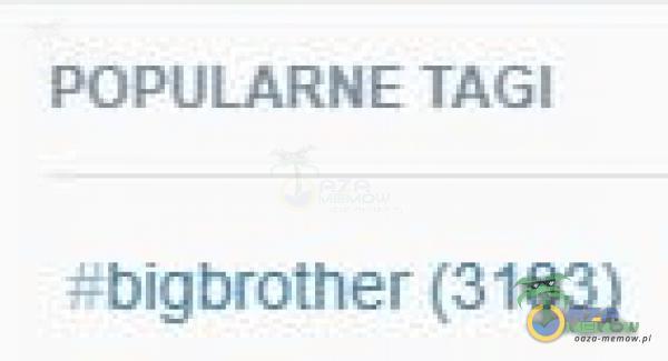 POPULARNE TAGI ±bigbrother (3183)