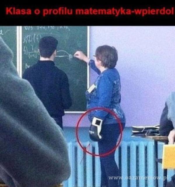 Klasa o profilu matematyka-wp***dol