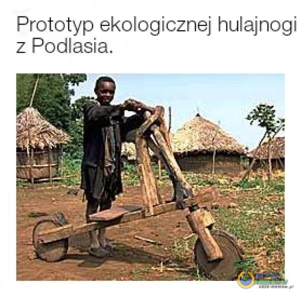 Prototyp ekologicznej hulajnogi z Podlasia.