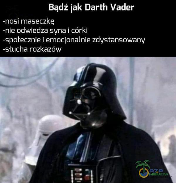 Bądź jak Darth Vader -hosi maseczkę