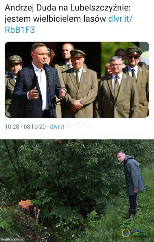 Andrzej Duda na Lubelszczyźnie: jestem wielbicielem lasów tllvr i jod lipźni alu aa