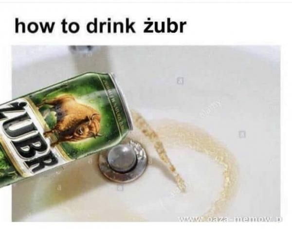 how to drink żubr
