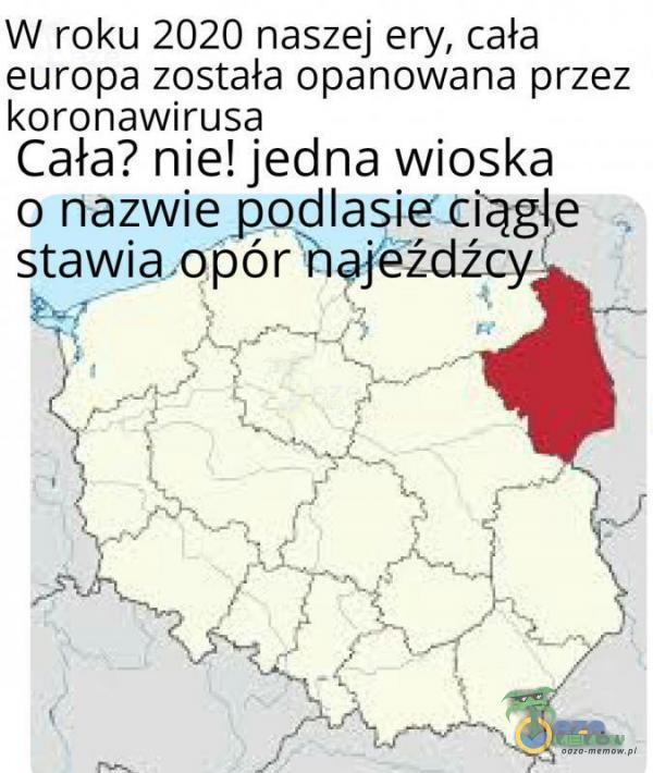 W roku 2020 naszej ery, cała europa została opanowana przez koronawirusa Cała? nie! jecna ke ciag o nazwie podlasie ciągle . stawia opór najeźdźcy, g s j ż ( l o Y z Li L 7 t oby - a L z A 7 I je f tt | > A kawa A s 2 i PAŃ pó, ( 4 4 5