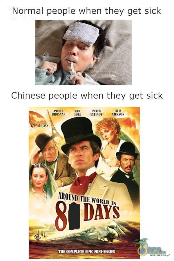 """Normal peoe when they get sick Chine5e peoe when they get sick mu! """"..w """"mm nu """" nu mm wah"""