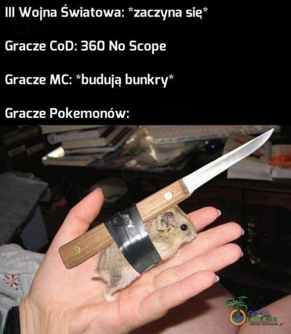 """III Wuina Światowa: zaczyna się Gracza CoD: 350 Na Scope Gracze MC: buduią bunkry"""" Gracze Pokemonów:"""