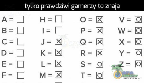 tylko prawdziwi gamer—a] to znaią E_dźgaa ,: : : : : VWXYZ E_KWRQQ __ __ __ __ = __ OPQRST _ _ Enigma; ____________ HIJKLW
