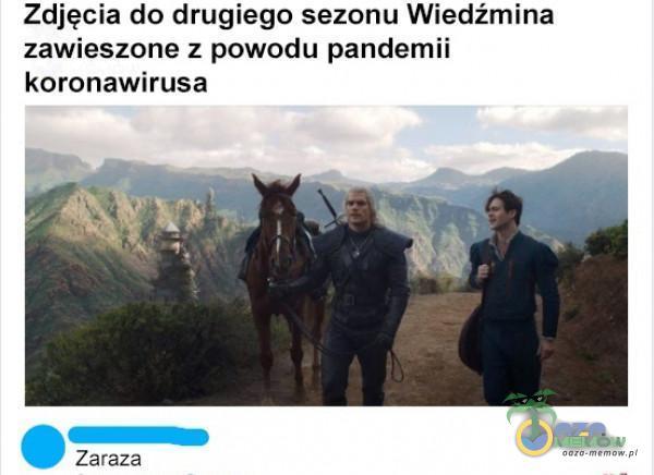 Zdjęcia do drugiego sezonu Wiedźmina zawieszone z powodu pandemii koronawirusa