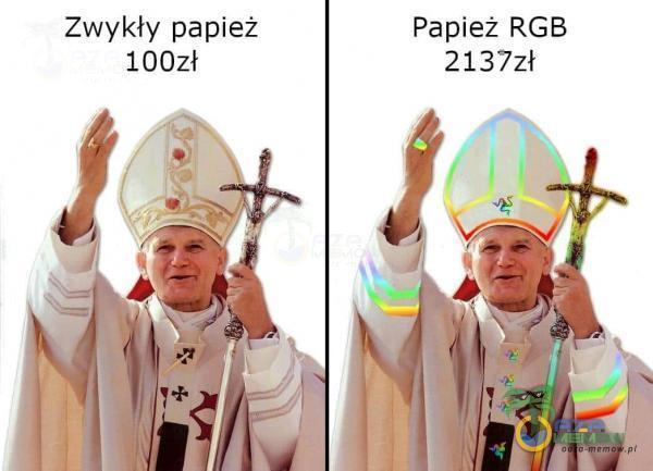 Zwykły papież Papież RGB 2137zł