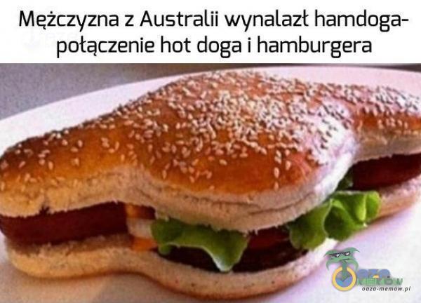 Meżczyzna z Australii wynalazł hamdoga- połączenie hot doga i hamburgera