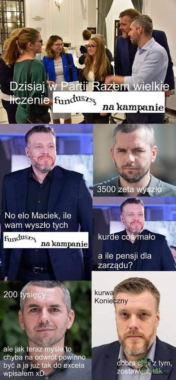 No elo Maciek, ile   wam wyszła tych a ile pensji dla zr.:f y   Sk Fe