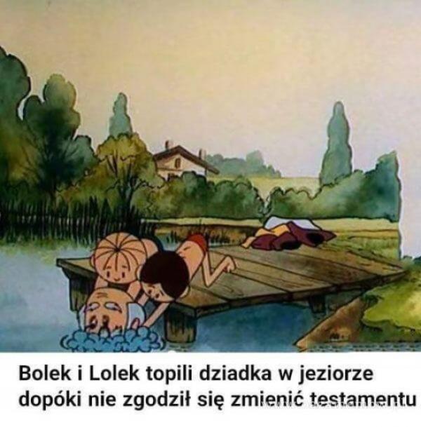 Bolek i Lolek topili dziadka w jeziorze dopóki nie zgodził się zmienić testamentu
