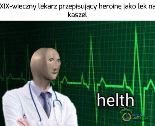 › IX-wieczny lekarz przepisuiacv heroinę jako Lek n-