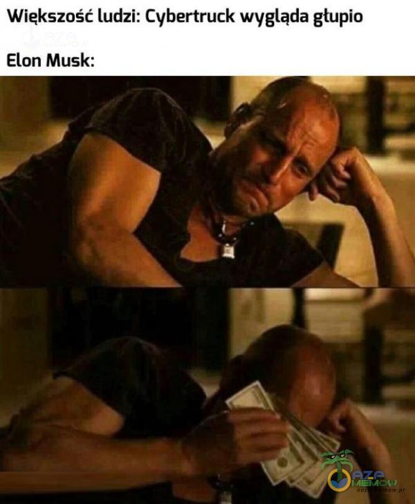 Większość ludzi: Cyhertruck wygląda głupio Elan Musk: