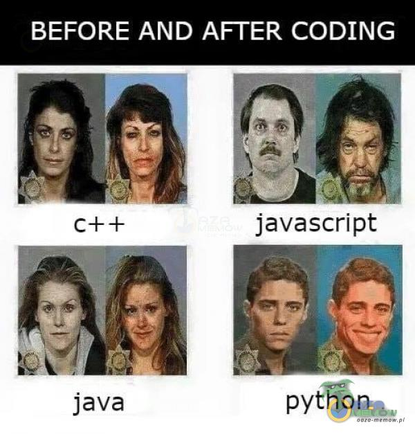 BEFORE AND AFFER CODING