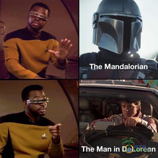 The Mandalorian The Man in DeLorean