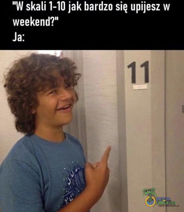 W skali 1-10 jak bardzo się upijesz W weekend? Ja: