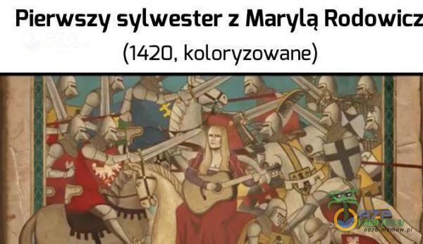 """Pierwszy sylwester z Marylą RoduWi m (1420 kolan/zowane) —.—.1 """"—_ * : — :~— """". ll,- """"~.,"""